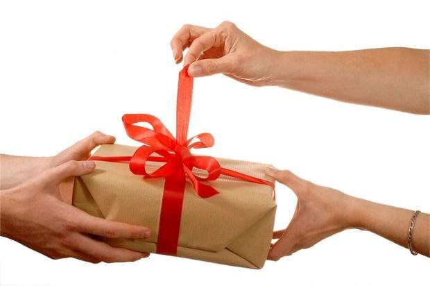 dicha dar regalo